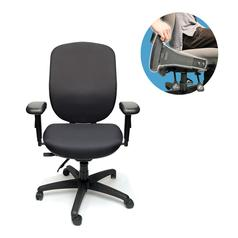 Tiburon High Back Ergonomic 24/7 Chair With Flip Arm