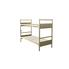 Half Panel Bunk Bed: Double Tier - Springs