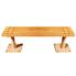 Bench: Floor Mount - Slatted Top - 4'